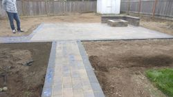 Hillsboro Seating Wall & Fire Pit Installation