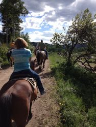 Riding string on the trail