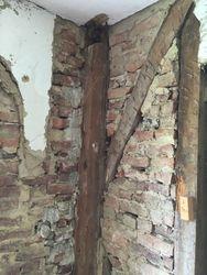 Integrated timber & brick construction