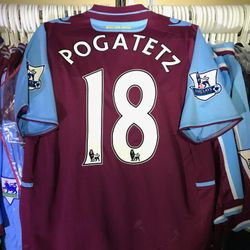 Emmanuel Pogatatz worn home 2102/13 home  shirt.