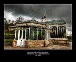 Victorian Palm House Conservatory, Corporation Park, Blackburn, England