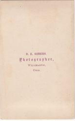 H. E. Robbins, photographer of Willimantic, CT - back