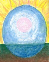 A Vast Calmness, Oil Pastel, 11x14, Original Sold