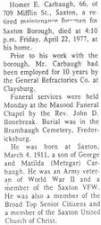 Carbaugh, Homer E. - Part 1 - 1977