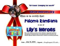 Lily's Hero!