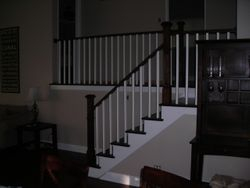 STAIRS WITH NEW RAILINGS