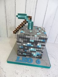 Diamond Ore Birthday Cake