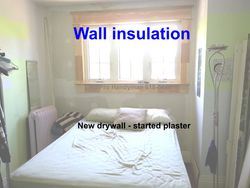 New wall insulation