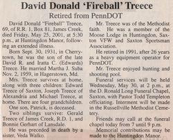 Treece, David Donald 2001