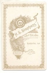 H. S. Stephens, photographer of Rushville, IN