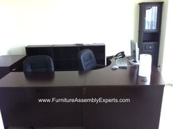 cymax sauder desk installation service in Bowie MD