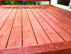 Deck cleaned & then stained