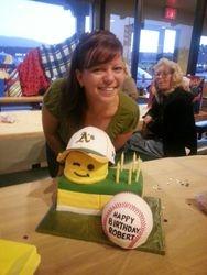 Baseball Lego Cake