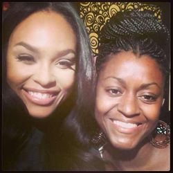 "Demetria McKinney & Shauna Williams On The Set Of Her Music Video ""I Still Believe In Love"" on July 24, 2013"
