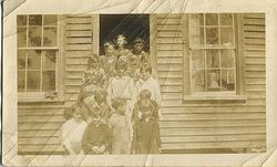 Mary Carol Squires and class in Sladesville