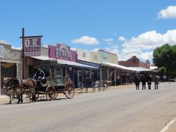 coming into the town of TOMBSTONE