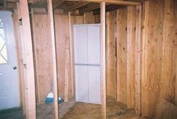 Bathroom walls built