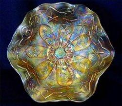"Little Stars 7"" ruffled bowl - marigold, satin"