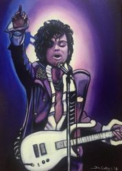 """Prince"", ""Prince Rogers Nelson "", ""Purple Rain"", ""Film Icon"", ""Music Icon"", ""Music Legend"", ""Singer"", ""Songwriter"", ""Icon"", acrylic on canvas, by Fin Collins, part of The Film Icons Collection www.filmiconsgallery.com"