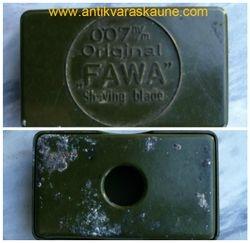 Prieskarine skutimosi peiliuku dezute FAWA. Kaina 4
