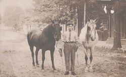 Homer Garner (1894-1984) and his Horses