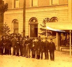 Grenville Shire Hall and Councillors circa, 1889
