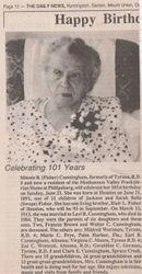 Minnie (Fisher) Cunningham Birthday