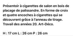 Boite à Cigarettes Deco