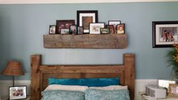 Reclaimed Shelf and Queen Sized Bed