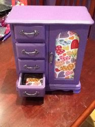 Purple with heart fabrics