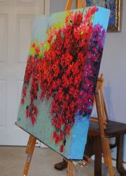 Side 1 of a Bougainvillea painting.