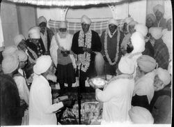 Inside Shri Guru Ravidass Janam Sthan Mandir Kanshi, India