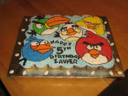 Angry Birds (pull a part cake)
