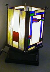 stained glass rotating lamp