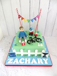 18th Birthday Boy and Bike Cake