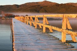 Lake Taupo frosty winter sunrise