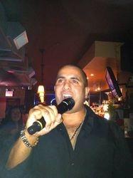 "Ruben bringing his brand of ""Hey Ya"" to 502 Bar Lounge's Social Saturday Night Karaoke!"