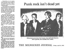 Article from Milwaukee Journal, April 8th 1982