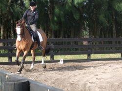 Judi Roberts riding Kabo Kavalier
