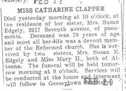 Clapper, Catharine