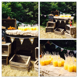Cocktails in the woods for a hen party