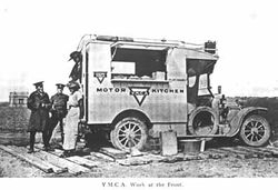 Very early Tea Van in France - 1st World War