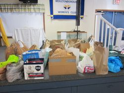 Food donations for the local food pantry.