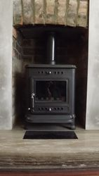 Larkfield m/f stove, Re-line and Recess