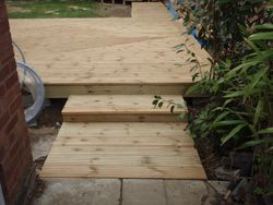 decking finished