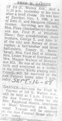 Garner, Fred W. - 2nd obit