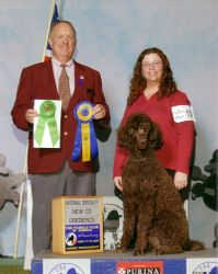 Penny with new CD title at PCA National Specialty.  6/12/07.