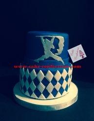 Colorguard Graduation Cake