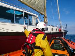 Wexford and Rosslare Harbour RNLI assist two onboard broken down yacht