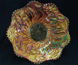 Field Thistle plate, marigold by US Glass